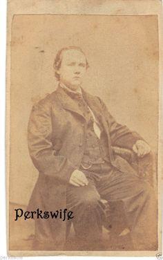 Man Civil War Era Carte de Visite CDV Antique Photograph Allegheny City, PA.