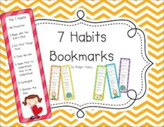 7 Habits Bookmarks FREE!!
