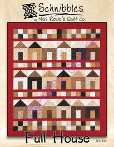 "Schnibbles ""Full House"" Quilt Pattern - FREE SHIPPING"