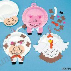 Výrobky z papíru a plastových misek pro děti, fotografie