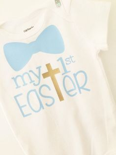 e1fdfa363456 Items similar to My first Easter bodysuit, first Easter baby boy bodysuit; baby  boy Easter bodysuit on Etsy