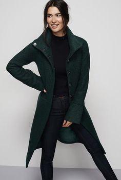 #Long Tall Sally AU - #Long Tall Sally Tall Wool Mix Funnel Neck Coat at Long Tall Sally - AdoreWe.com
