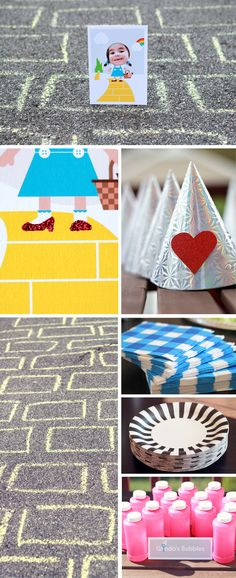 Wizard of Oz party ideas.  Chalk on sidewalk for yellow brick road.