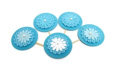Polka Dot Cupcake Toppers Party Picks for Spring by PartyGarnish, $9.95