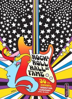 Rock & Roll Hall of Fame 2015 Induction Peter Max Poster