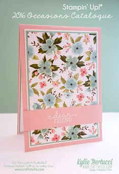 Stampin' Up! Australia: Kylie Bertucci Independent Demonstrator: Global Design Project #019 Theme - Love