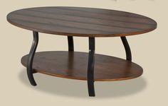 Montana Oak & Black Coffee Table Set – My Furniture Place
