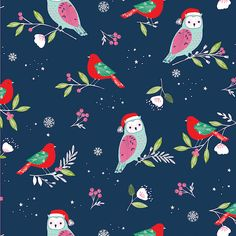 Owls wearing Santa hats, an advent calendar to cut and sew and a spread of holly? It could only be Bethan Janine's festive collection, Winter Wonderland.