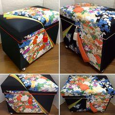 Interior Chabako size 40k. One gorgeous Kimono made into two boxes. #chabako #interior