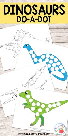 Free Dinosaurs Do a Dot Printables - Easy Peasy Learners The Effective Pictures We Offer You About Dinosaur A quality picture can tell you many things. You can find the most beautiful pictures that ca Dinosaur Worksheets, Dinosaur Theme Preschool, Dinosaur Printables, Free Preschool, Preschool Printables, Preschool Crafts, Dinosaur Dinosaur, Preschool Kindergarten, Daycare Crafts
