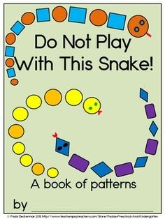 Combine literacy, math and science as your students create a class book full of patterned snakes in Do Not Play With This Snake!  Everything you need to make the class book is included: a cover page, student page, directions, suggested literacy connections and even a list of the sight words reviewed in the book: not, play, do, with, this. TpT $