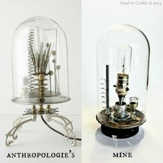Anthropologie Inspired Lighting - awesome tutorial lots of pictures show how to make this great light.