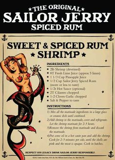 Sailor jerry sweet & spiced rum shrimp