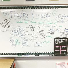 """We had a little """"Freaky Friday"""" and some of their responses killed me! @miss5th #miss5thswhiteboard #iteach456 #iteachtoo #iteachfifth #iteachupperelementary #talesofafirstyearteacher #teachersfollowteachers #teacherspayteachers #teachersofinstagram #iteachupperelementary"""