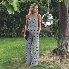 Lucy Williams of Fashion Me Now in the Ireland Jumpsuit http://on.dvf.com/1InQJoe