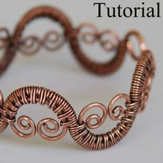 22gauge wire to wire wrap with, 16 gauge wire for the curly bits, and 14 gauge for the main bracelet