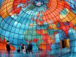 A TRAVELER'S DREAMSCAPE - One of my favorite things to do in Boston is visit the Mapparium at the Mary Baker Eddy Library. If you love to travel, love architecture, and particularly if you love to look at old maps, the Mapparium is not to be missed. Mary Baker Eddy, Boston Travel, Boston Shopping, Boston Things To Do, Must See In Boston, Thinking Day, Secret Places, Glass Globe, Architecture