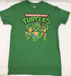 Teenage Mutant Ninja Turtles T-Shirt Adult Size Small NWOT Green  | eBay