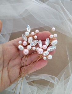 Prom Jewelry, Hair Jewelry, Jewelry Sets, Jewelry Accessories, Bride Headband, Pink Headbands, Bridal Comb, Bridal Headpieces, Curly Prom Hair