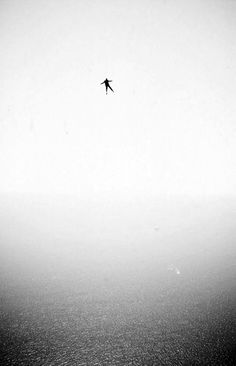 The Falling Man, Art Print by nzafro Minimalist Photography, Dark Photography, Black And White Photography, Exposure Photography, Jm Barrie, 3d Camera, The Falling Man, Jolie Photo, Black And White Pictures