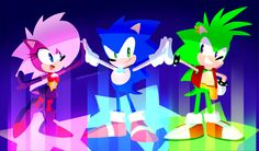 just a little doodle of Sonic Underground, Sonic, Manic and Sonia! Sonic Boom, Sonic Satam, Balloon Pop Game, Sonic The Hedgehog, Sonic Underground, Mundo Dos Games, Classic Sonic, Sonic Heroes, Sonic Adventure