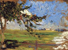 The Athenaeum - Landscape with Apple Tree (Wassily Kandinsky - )