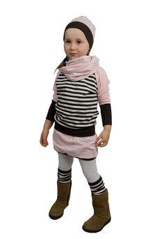 Design: Streifen braun/weiß - rosa Hipster, Hoodies, Sweaters, Design, Style, Fashion, Pink, Stripes, Get Tan