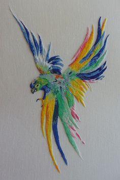 Peinture à l'aiguille réalisée par Danièle