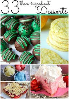 33 3-Ingredient Desserts