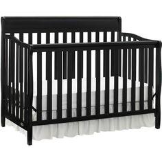 Graco - Stanton 4-in-1 Convertible Fixed-Side Crib, Black
