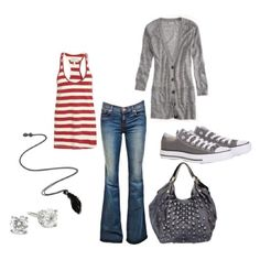 Could maybe pull this off.  old Gap purse, white sweater, tennis shoes