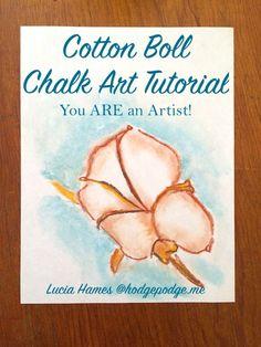 Cotton Boll Chalk Art Tutorial - You ARE an Artist