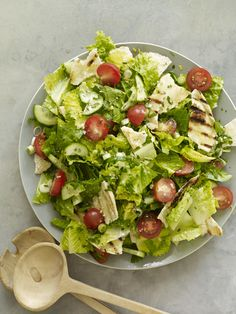 Middle Eastern Chopped Salad (Fattoush) #myplate #veggies #salad