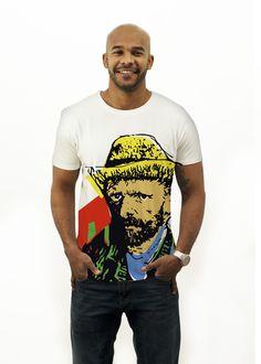 Handpainted tshirt inspired in van gogh - Cool t-shirt