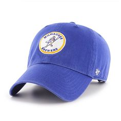 Milwaukee Brewers 47 Brand Cooperstown Blue Clean Up Adjustable Hat - Detroit Game Gear Chicago White Sox, Boston Red Sox, Brewer Logo, Detroit Game, Base Ball, Buster Posey, Million Dollar Homes, Derek Jeter, Oakland Athletics