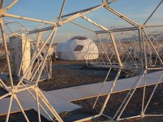 Geodesic dome structure