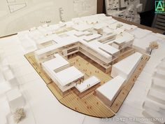 Arch에 있는 haojun lee님의 핀 архитектура, макет 및 школа. Architecture Model Making, Education Architecture, Architecture Details, Modern Architecture, Architecture Magazines, Architectural Engineering, Arch Model, Learning Spaces, School Design