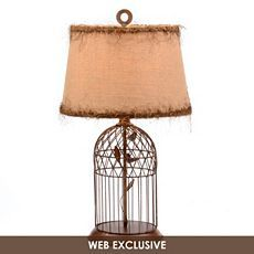 Bronze Bird Cage Table Lamp at Kirkland's