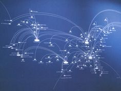 J.P. 232 in C.S.O. Blue  Simon Patterson  Visualization of a global airline route map.