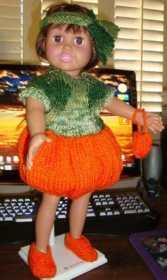 Ladyfingers - AG doll - Halloween Pumpkin Costume