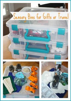 Sensory Bins For Gifts Or Travel