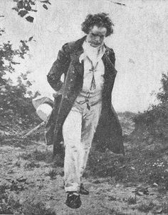 Ludwig van Beethoven - an afternoon walk in the woods -- seeking inspiration and problem solving.