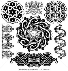 stock vector : Celtic vector art-collection on a white background.