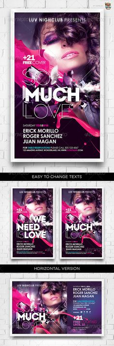 So Much Love Flyer Template - GraphicRiver Item for Sale