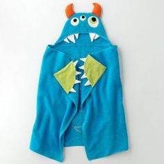 monster hooded towel @Madison Parker see I bet you could make this too. You can do anything.