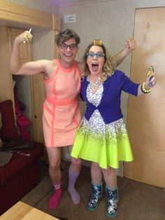 kirsten vangsness in neon-dipped perfection.