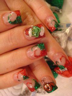 Christmas Inspired Nail Art Designs 2011