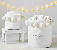 Keep your nursery organized with Pottery Barn Kids' storage ideas. Make diaper changes easy by shopping our changing table organization and storage bins. Baby Storage Baskets, Decorative Storage Bins, Baby Room Storage, Nursery Storage, Nursery Organization, Kids Storage, Decorative Pillows, Barn Storage, Kitchen Storage