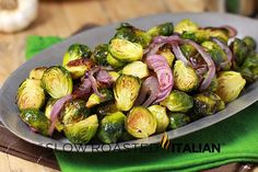 The Slow Roasted Italian - Printable Recipes: Garlic Roasted Brussels Sprouts