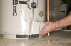 to Drain a Water Heater With a Clogged Drain Valve Unscrew the drain valve if the valve becomes clogged. A drain valve is a convenience feature on a water heater. The only time it will be used… Sewer Repair, Pipe Repair, Hvac Maintenance, Preventive Maintenance, Residential Plumbing, Solar Water Heater, Water Heaters, Heating And Air Conditioning, Heating And Cooling